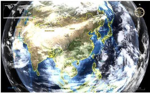 浪潮完成500万平方公里1Km分辨率高精度数值天气预报